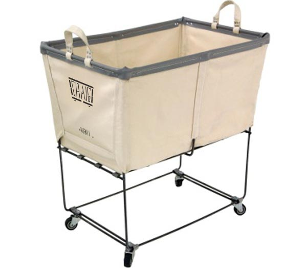 Elevated Canvas Laundry Carts